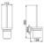 Туалетный ершик настенный Timo Saona 13061/03 (черный матовый)