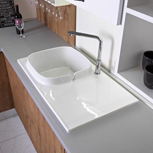 Кухонная мойка Scarabeo UP Shelf DX 1890BK (860х500 мм) с покрытием BioKer
