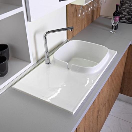 Кухонная мойка Scarabeo UP Shelf SX 1891BK (860х500 мм) с покрытием BioKer
