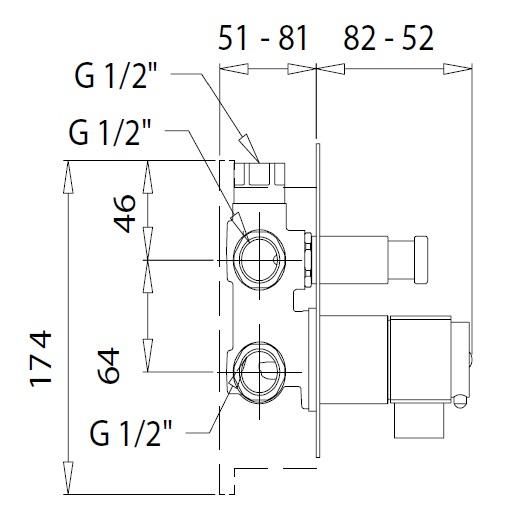 Смеситель для ванны Migliore Kvant Gold 25406 (ML.KVT-2781.DO) (золото)