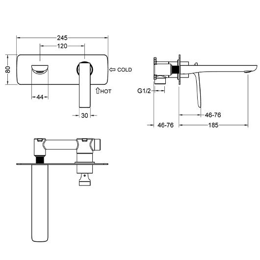 Смеситель для раковины Timo Helmi 4071/03SM (черный матовый)