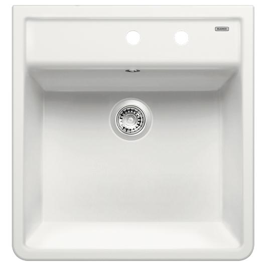Кухонная мойка Blanco Panor 60 514501 (Ceramic белый, два отверстия, 600х630 мм)