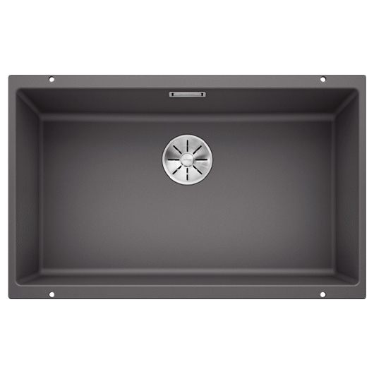 Мойка кухонная Blanco Subline 700-U 523443 (темная скала, 730х460 мм)