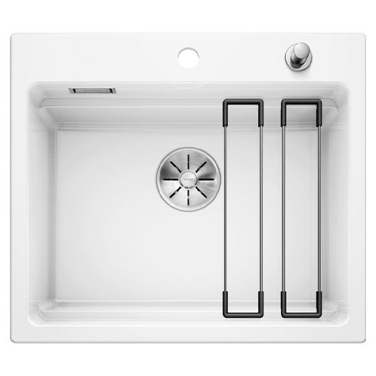 Кухонная мойка Blanco Etagon 6 525156 (Ceramic PuraPlus белый, 584х510 мм)