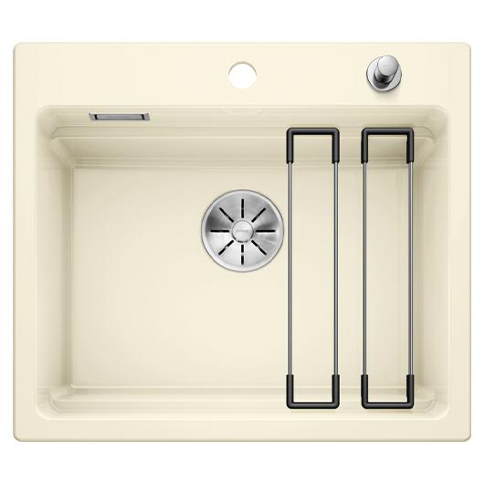 Кухонная мойка Blanco Etagon 6 525157 (Ceramic PuraPlus магнолия, 584х510 мм)