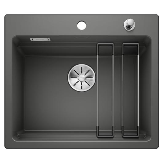 Кухонная мойка Blanco Etagon 6 525161 (Ceramic PuraPlus базальт, 584х510 мм)