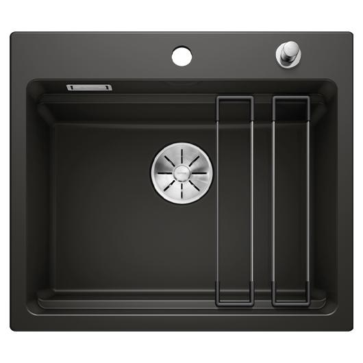 Кухонная мойка Blanco Etagon 6 525162 (Ceramic PuraPlus черный, 584х510 мм)
