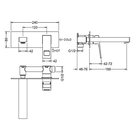 Смеситель для раковины Timo Briana 7171/03SM (черный матовый)