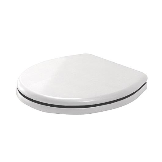 Сиденье с крышкой для унитаза Scarabeo Castellana 5553/B/CR SoftClose (белое/хром)