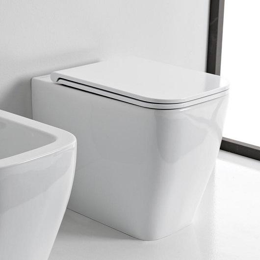 Чаша приставного унитаза Scarabeo Teorema 2.0 Clean Flush 5138/CL безободковая