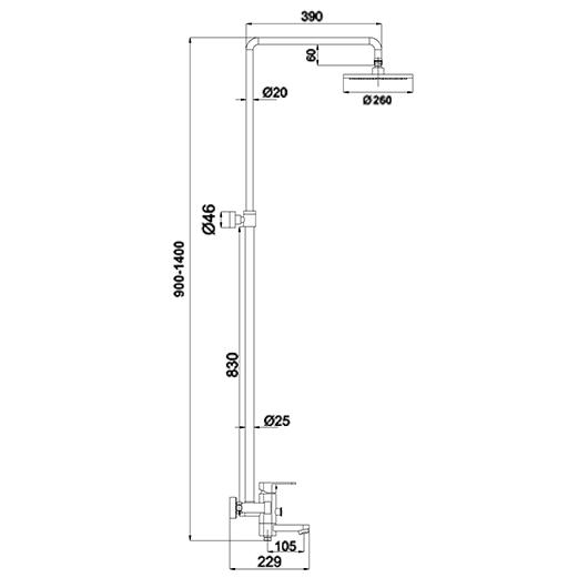 Душевая система Timo Beverly SX-1060/00