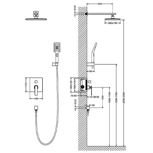 Душевая система Timo Torne SX-4319/00SM (хром)