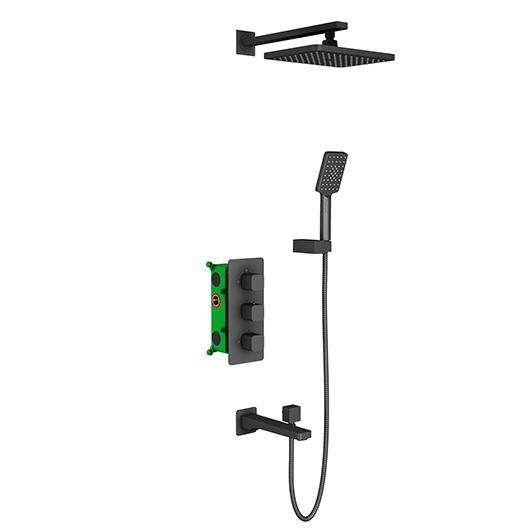 Душевая система Timo Petruma SX-5049/03SM (черный матовый)