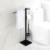 Стойка с туалетным ершиком и бумагодержателем Timo Selene 14085/03 (черный матовый)