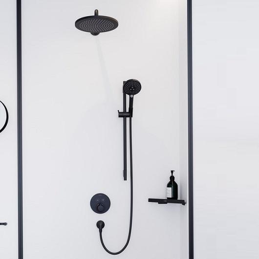 Термостат для 2 потребителей Hansgrohe ShowerSelect S 15743670 (матовый черный)