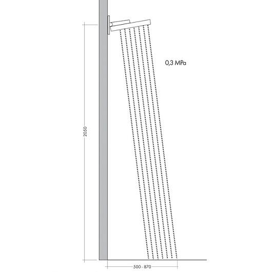 Верхний душ Hansgrohe Rainfinity 360 1jet 26230140 (360 мм, шлифованная бронза)