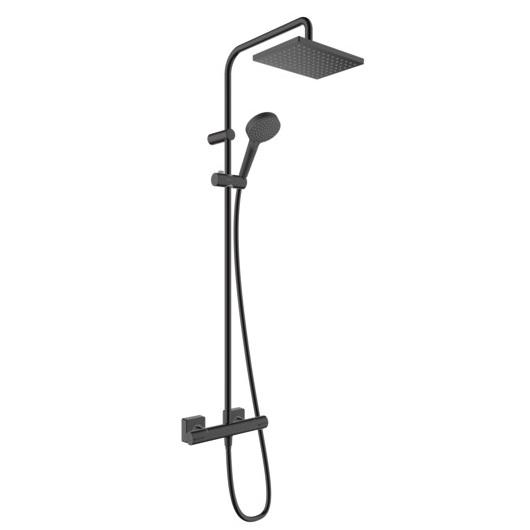 Душевая система Hansgrohe Vernis Shape Showerpipe 230 1jet 26286670 (черный матовый)