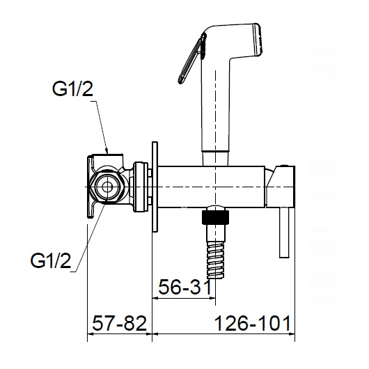 Гигиенический набор Migliore Fortis 30453 (ML.FRT-5293.CR) (Хром)