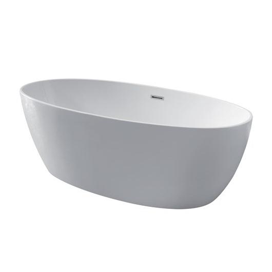 Ванна акриловая Kerasan Flo 170х82 742901 отдельностоящая