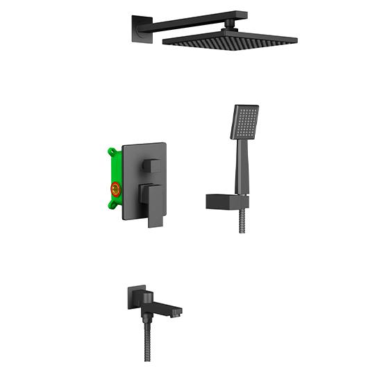 Душевая система Timo Selene SX-3069/03SM (черный матовый)