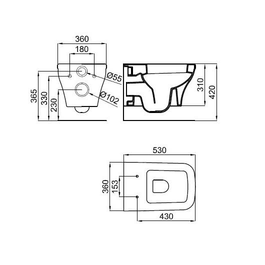 Комплект унитаз с инсталляцией Noken Forma 100200322/N399999729 (4 в 1)