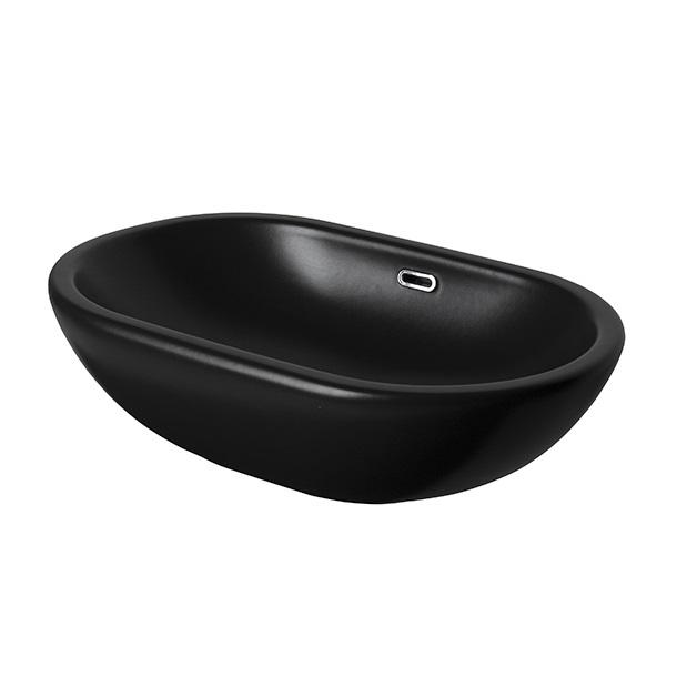 Раковина накладная Noken Forma Oval 100274765/N399999641 (595х360 мм) черная матовая
