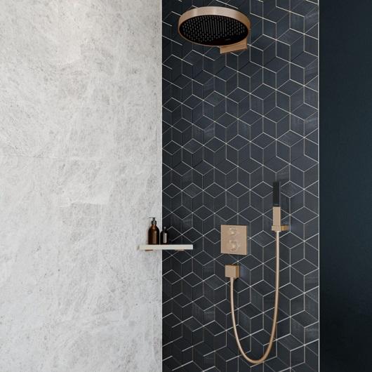Ручной душ Hansgrohe Rainfinity 100 1jet 26866140 (шлифованная бронза)