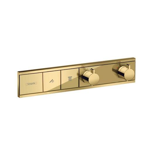 Термостат для ванны Hansgrohe RainSelect 15380990 (полированное золото)