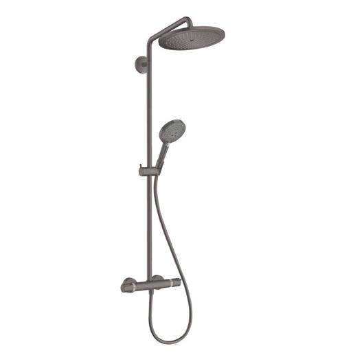 Душевая система Hansgrohe Croma Select S Showerpipe 280 1jet 26890340 (шлифованный черный хром)