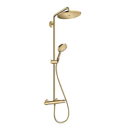 Душевая система Hansgrohe Croma Select S Showerpipe 280 1jet 26890990 (полированное золото)