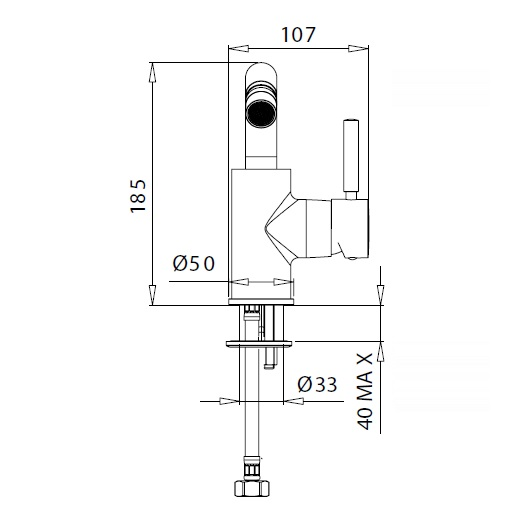 Смеситель для биде Migliore Fortis Black 30459 (ML.FRT-5223.NO) (Черный матовый)