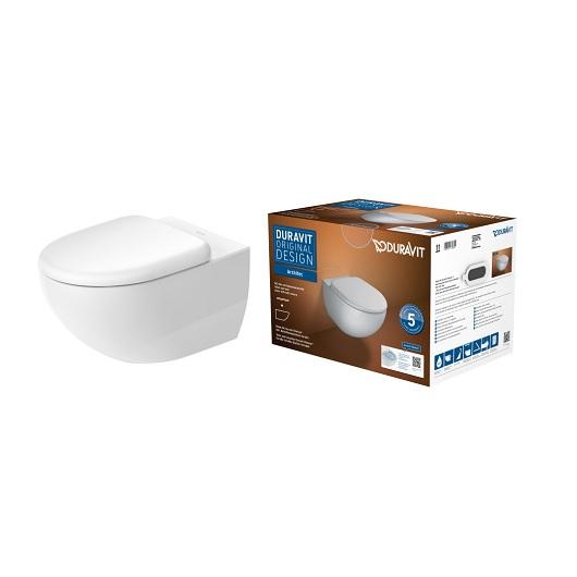 Комплект Duravit Architec Rimless 45720900A1 безободковый (унитаз подвесной 2572090000 с сиденьем SoftClose 0069690000)