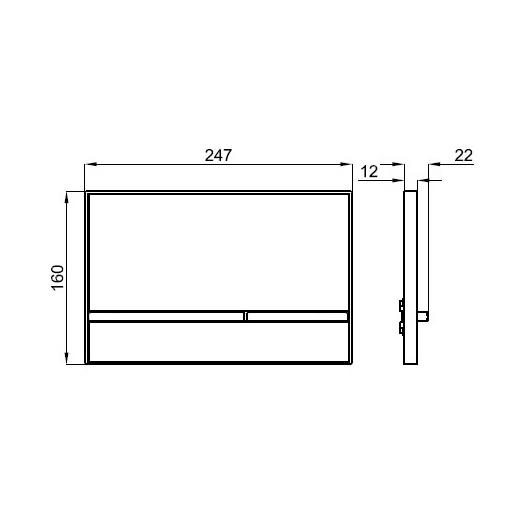 Клавиша смыва Noken Smart Line Crystal 100104500/N386000016 (черное стекло)