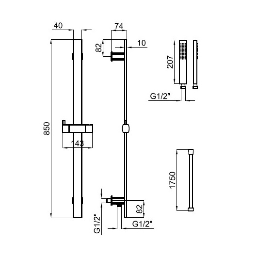 Душевой набор Noken NK Concept 100149207/N199999393