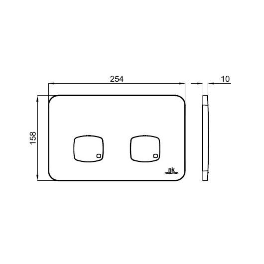 Клавиша смыва Noken Smart Line NK Concept 100173670/N386000060 (хром)