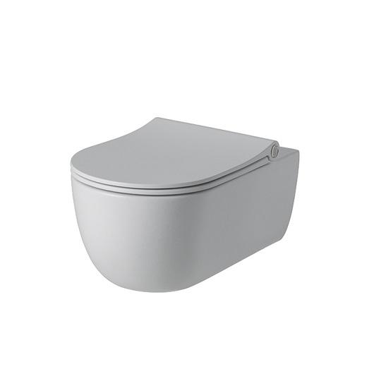 Унитаз подвесной Noken Acro Compact Rimless 100282310/N380000082 безободковый, компакт (белый матовый)