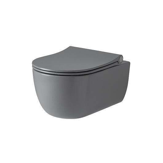 Унитаз подвесной Noken Acro Compact Rimless 100285525/N380000095 безободковый, компакт (серый матовый)