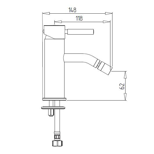 Смеситель для биде Migliore Fortis 18645 (ML.FRT-5323.CR) Хром
