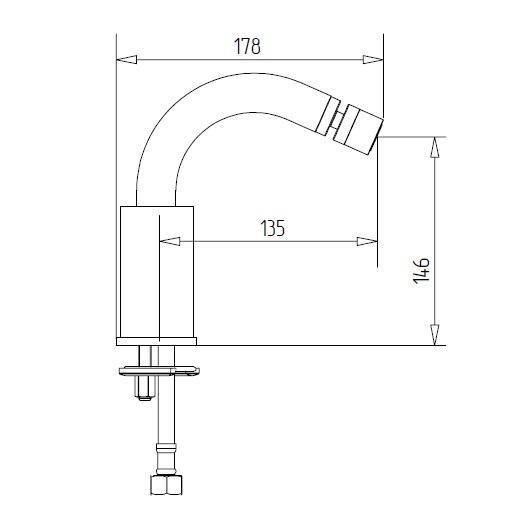 Смеситель для биде Migliore Fortis 18646 (ML.FRT-5223.CR) Хром