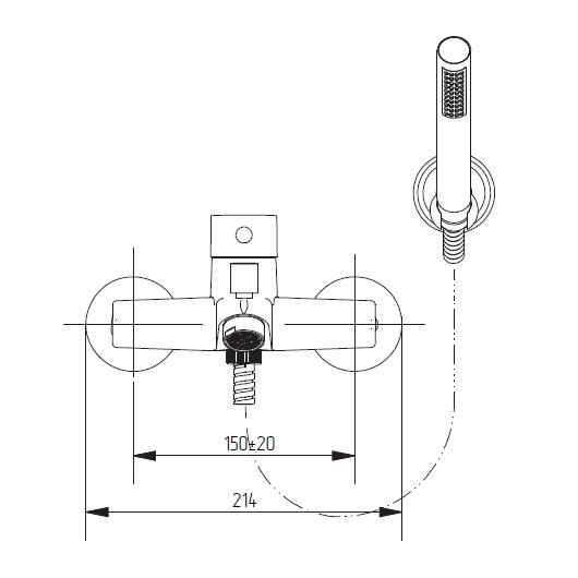 Смеситель для ванны Migliore Fortis 18647 (ML.FRT-5202.CR) (Хром)