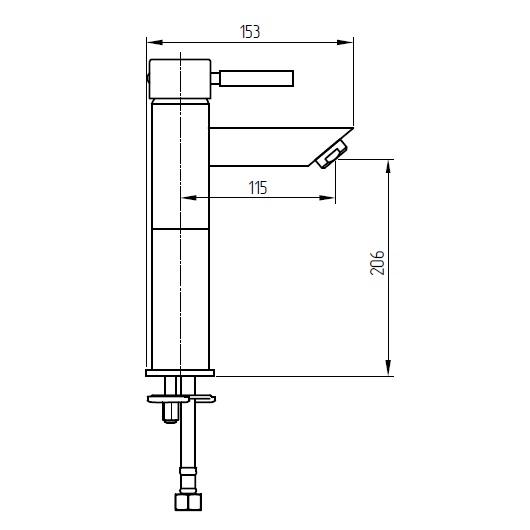 Смеситель для раковины Migliore Fortis 18661 (ML.FRT-5117.CR) Хром