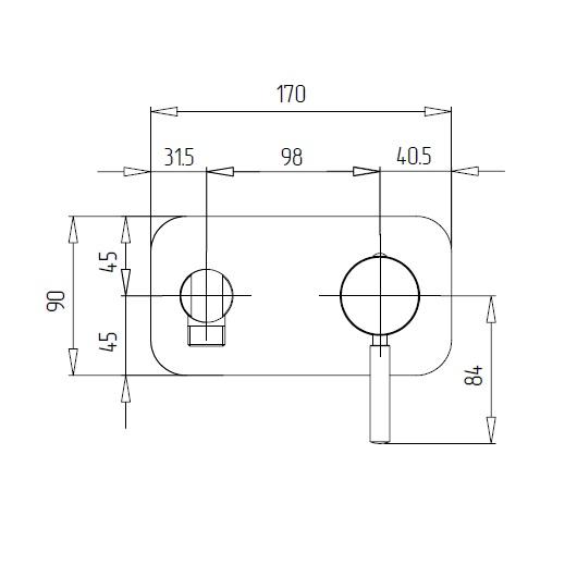 Гигиенический набор Migliore Fortis 25042 (ML.FRT-5266.CR) (Хром)