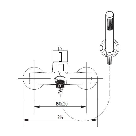 Термостат для ванны Migliore Fortis 25044 (ML.FRT-5203.CR) Хром