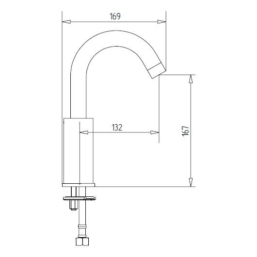 Термостат для раковины Migliore Fortis 25045 (ML.FRT-5210.CR) Хром