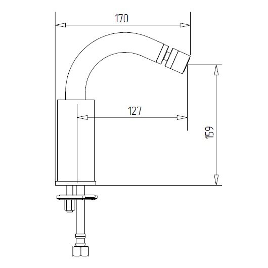 Смеситель для биде Migliore Fortis 25046 (ML.FRT-5211.CR) Хром