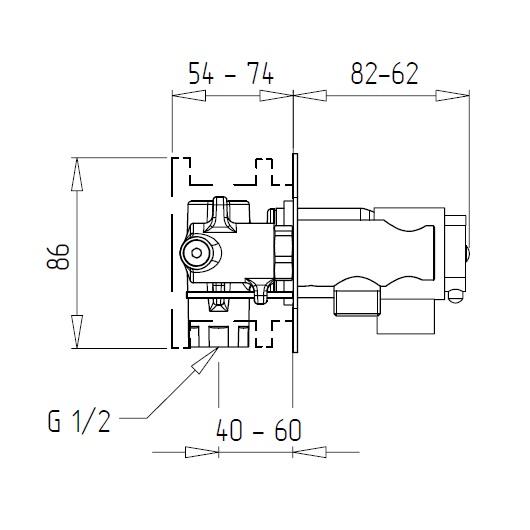 Гигиенический набор Migliore Fortis 25047 (ML.FRT-5267.CR) (Хром)