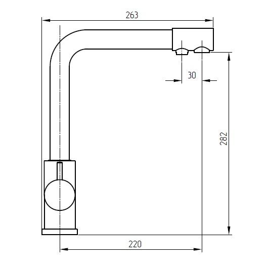Смеситель для кухни Migliore Fortis 26618 (хром)