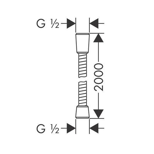 Душевой шланг Hansgrohe Sensoflex 28134000 (2000 мм)