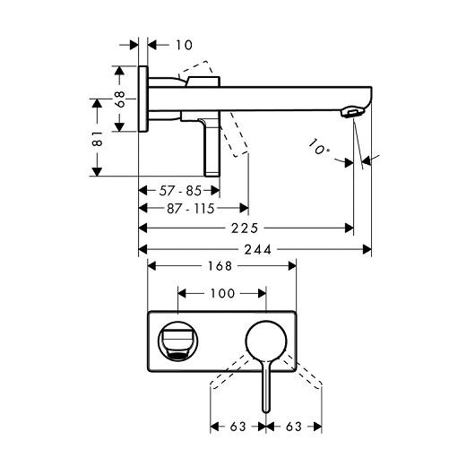 Смеситель для раковины Hansgrohe Metris S 31163000