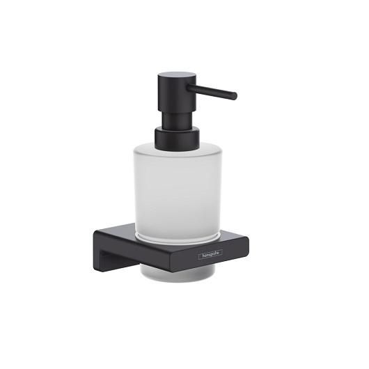 Диспенсер для жидкого мыла Hansgrohe AddStoris 41745670 (матовый черный)